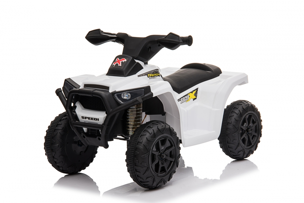 Atv electric 6V Nichiduta Racer X cu roti Eva White - 5