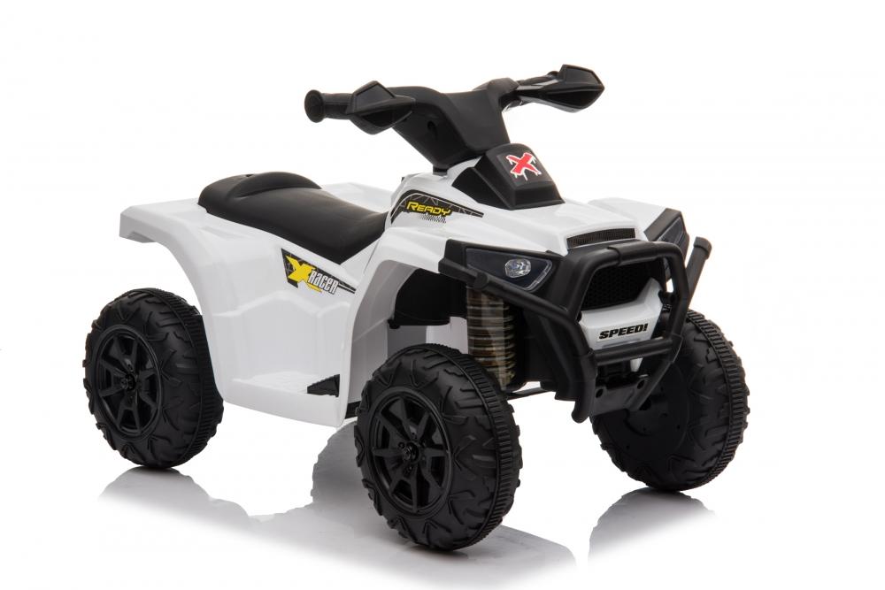 Atv electric 6V Nichiduta Racer X cu roti Eva White - 6