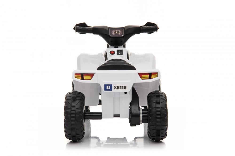 Atv electric 6V Nichiduta Racer X cu roti Eva White - 7