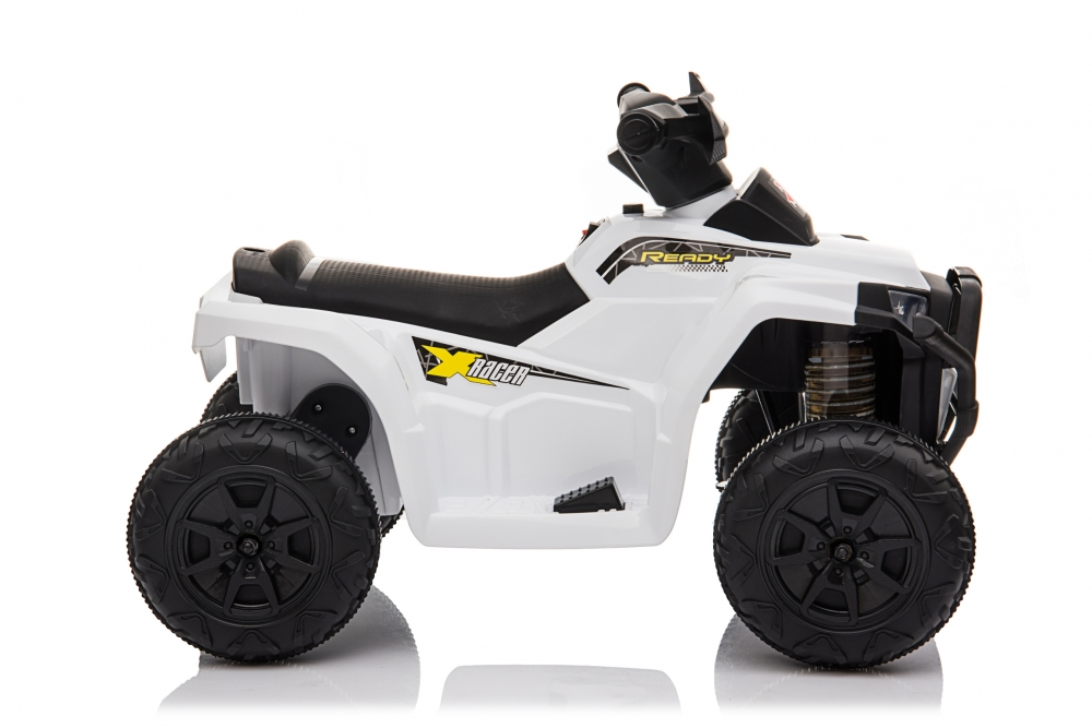 Atv electric 6V Nichiduta Racer X cu roti Eva White - 8