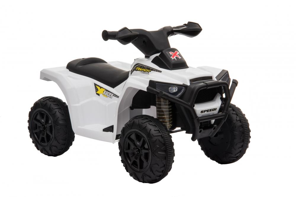 Atv electric 6V Nichiduta Racer X cu roti Eva White - 10