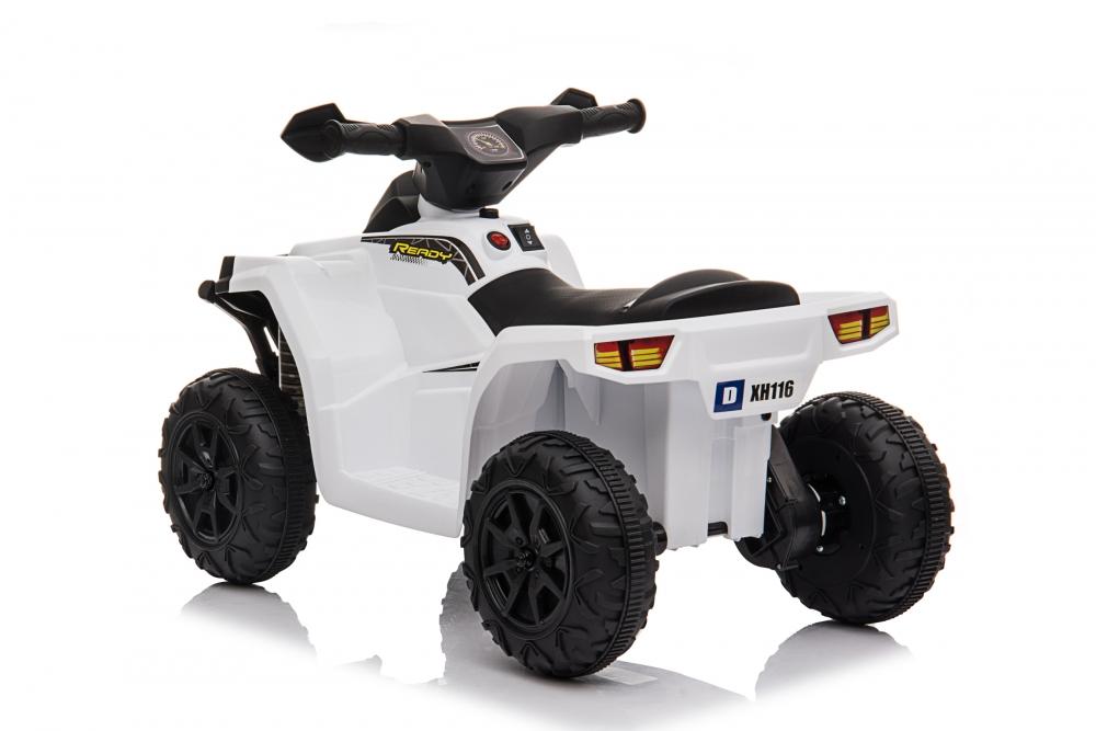 Atv electric 6V Nichiduta Racer X cu roti Eva White - 9