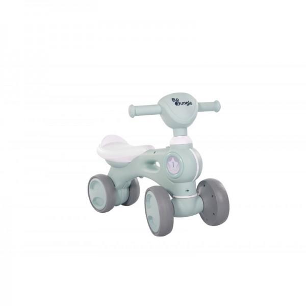Bicicleta cu 4 roti albastra Bo Jungle pentru copii cu lumini si sunete - 1