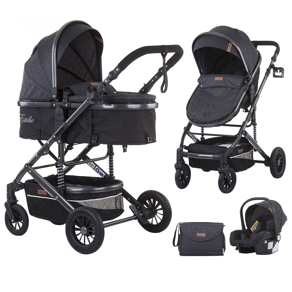 Carucior 3 in 1 Chipolino Estelle asphalt