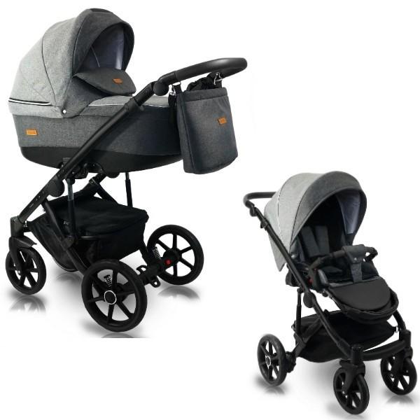 BEXA Carucior copii 2 in 1 reversibil 0-36 luni Bexa Ultra 2.0 Dark Grey