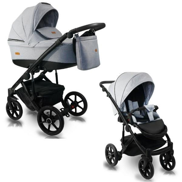BEXA Carucior copii 2 in 1 reversibil 0-36 luni Bexa Ultra 2.0 Light Grey