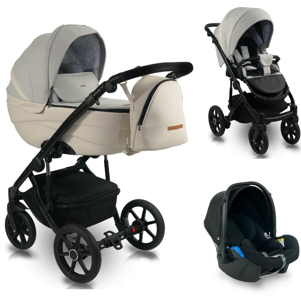 BEXA Carucior copii 3 in 1 reversibil 0-36 luni Bexa Ideal 2020 Beige Marble
