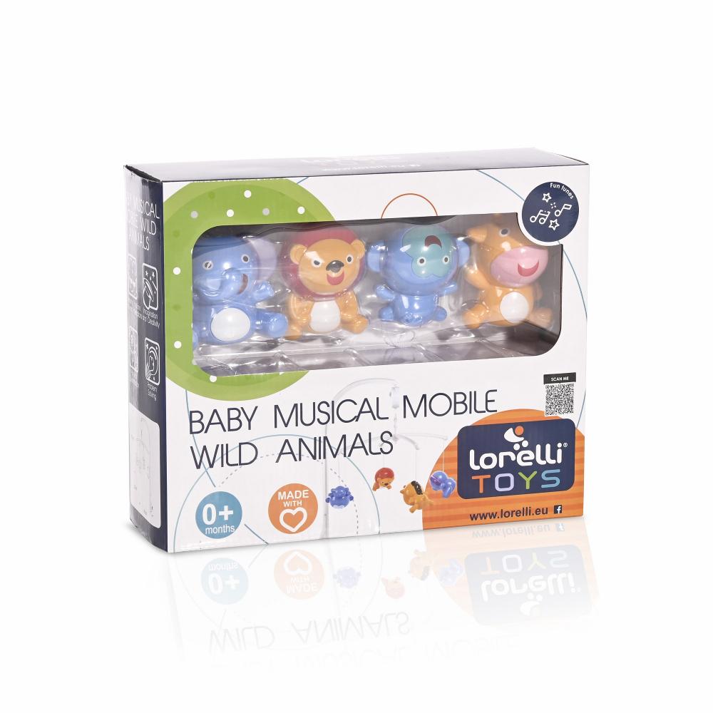 Carusel muzical pentru patut Wild Animals