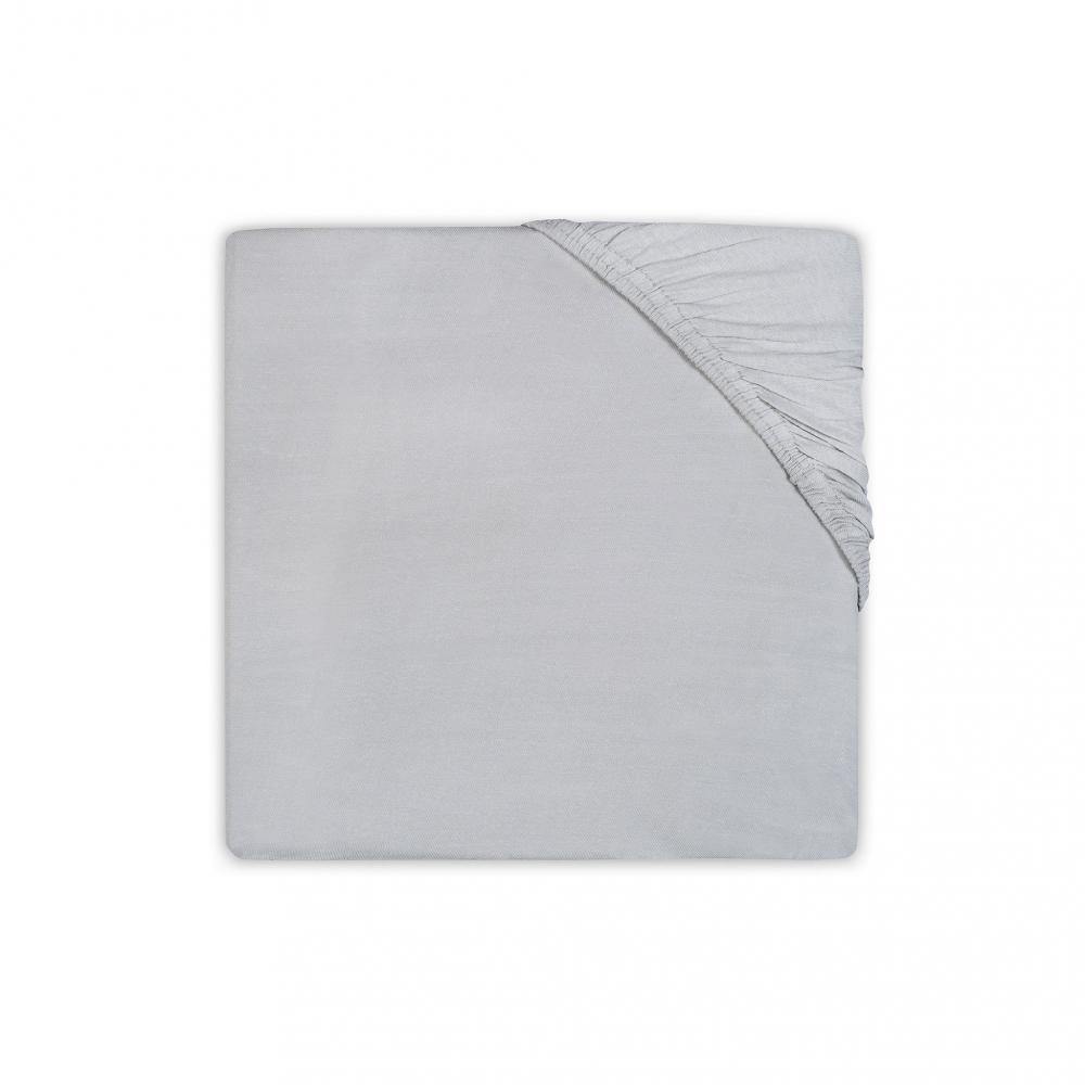Cearsaf cu elastic Jollein Vintage-Grey 75x150 cm