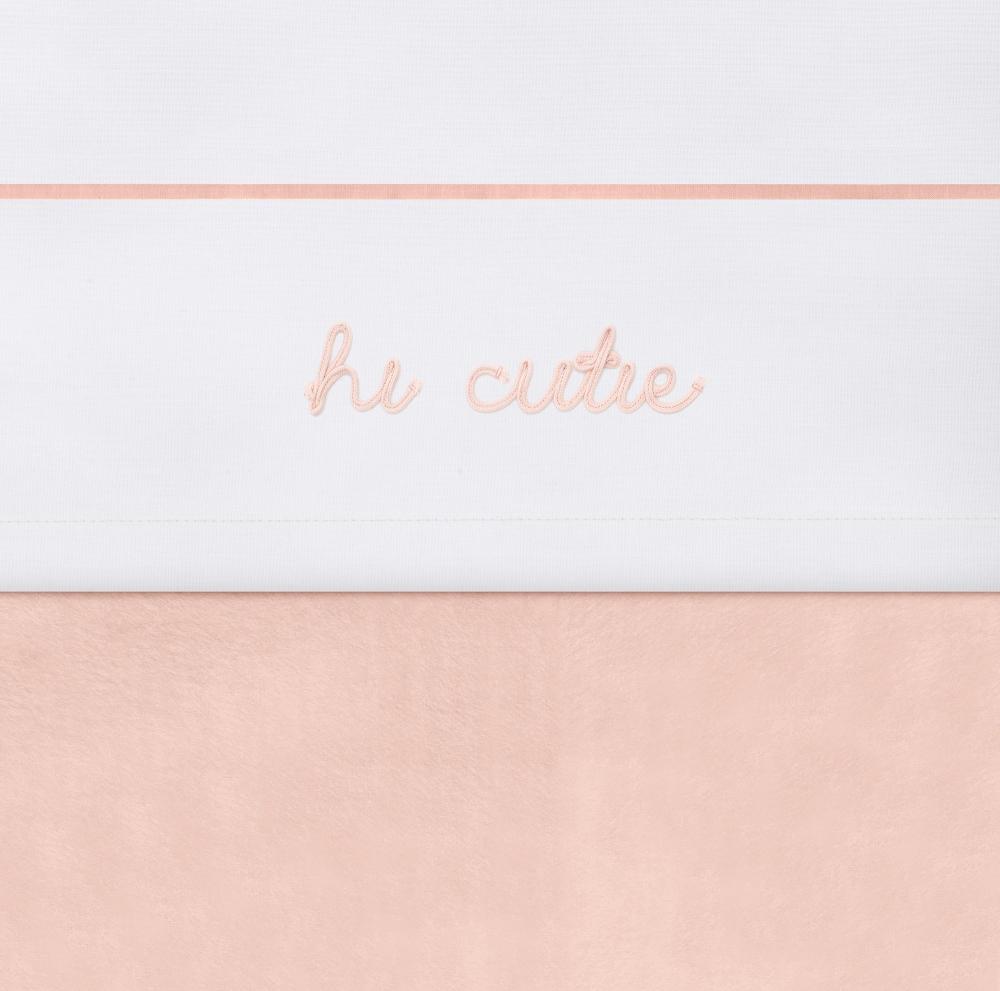 Cearsaf patut Jollein Pale-Pink 120x150 cm