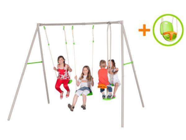 Complex de 3 leagane pentru 4 copii Paulo