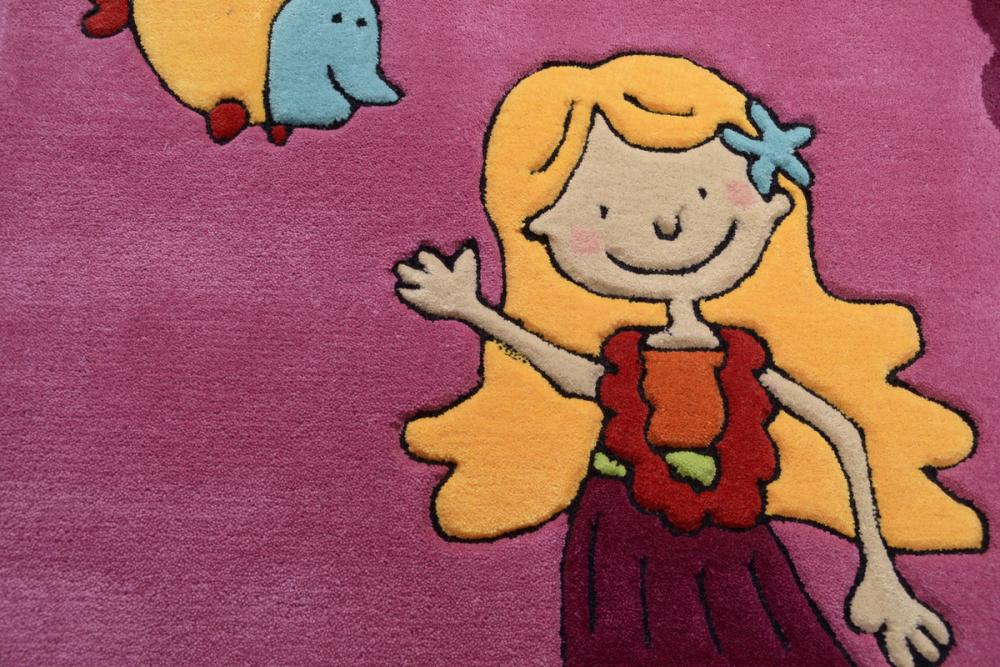 Covor copii tineret Arven acril roz 100x160