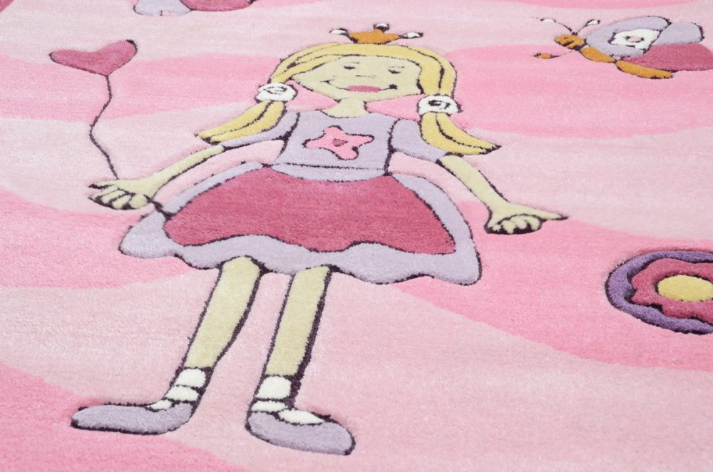 Covor copii tineret Arven acril roz 120x180