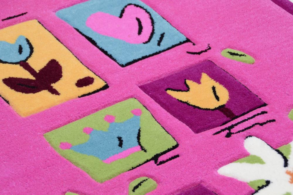 Covor copii tineret Arven acril roz 80x150