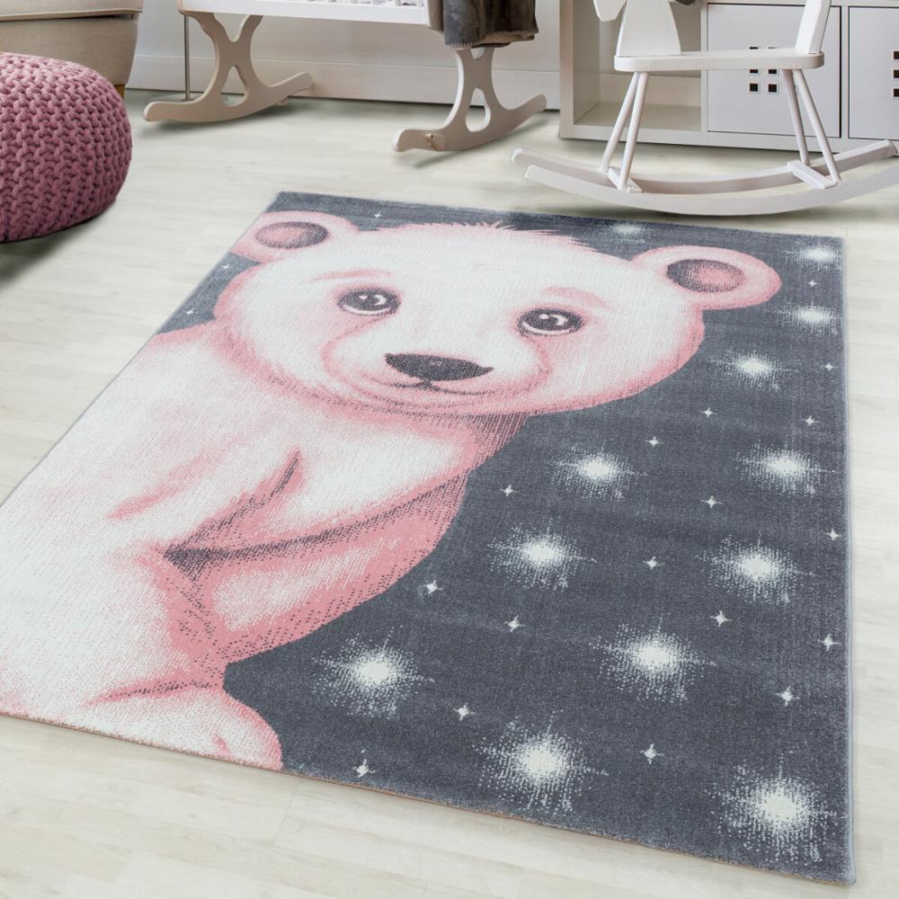 Covor copii tineret Azir roz 120x170 cm