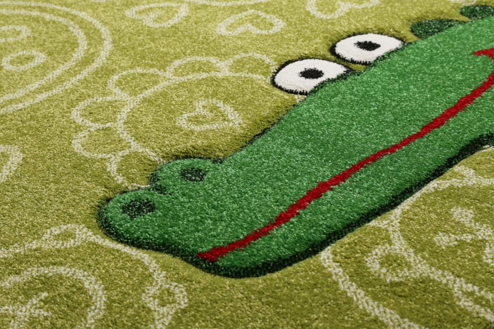 Covor copii tineret Crocodile verde 133x200