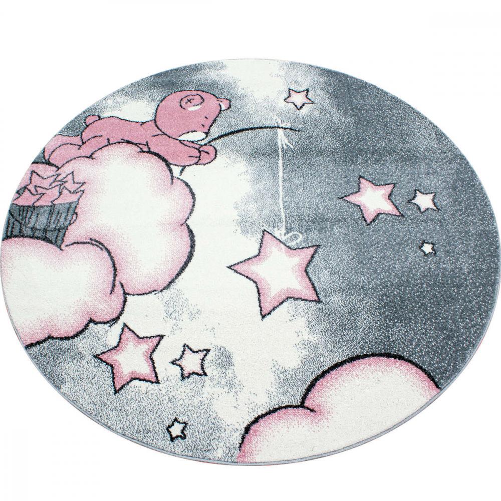 Covor copii tineret Eugene rotund roz 160x160