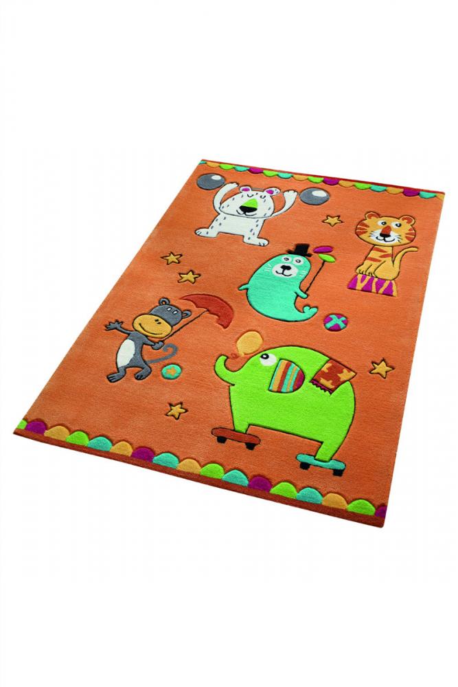 Covor copii tineret Little Artists acril portocaliu 130x190