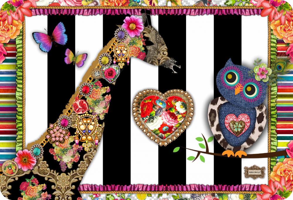 Covor copii tineret Melli Mello multicolor 133x190