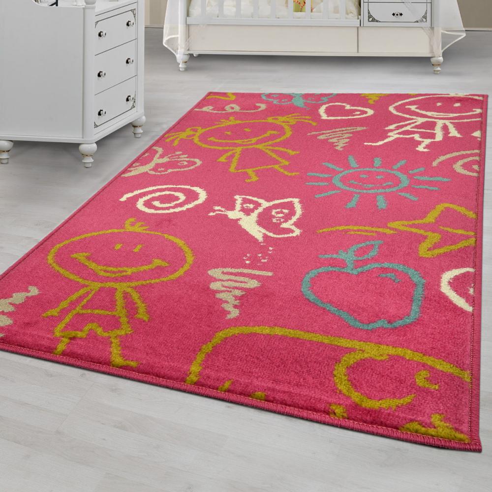 Covor copii tineret Mosley roz 67x120