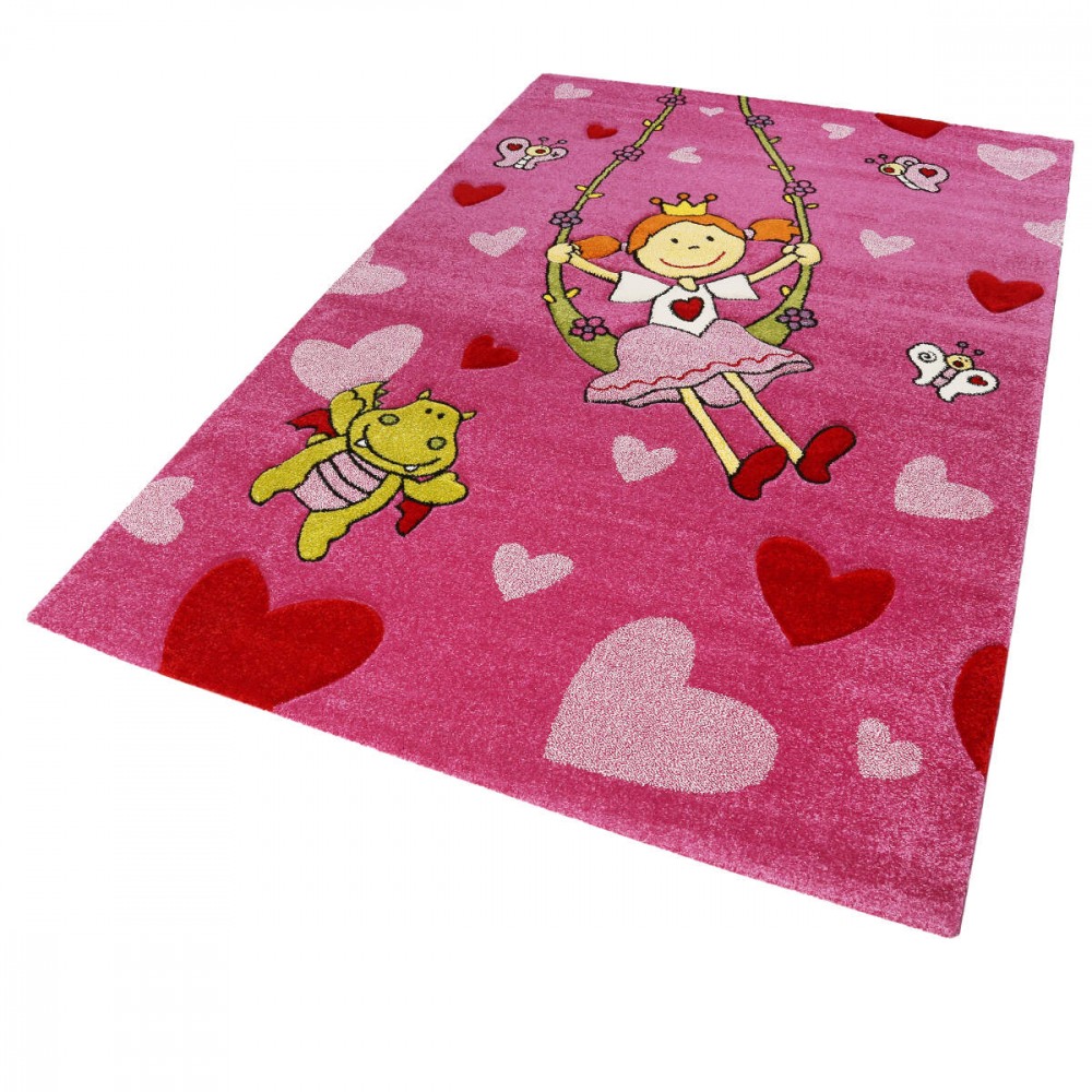 Covor copii tineret Pinky Queeny roz 120x170 - 3