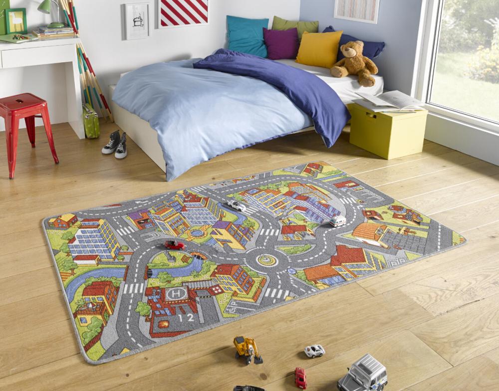 Covor copii tineret Play gri 200x300
