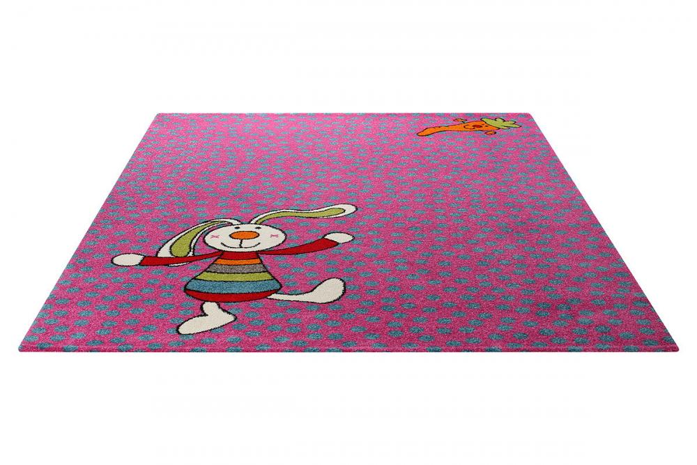 Covor copii tineret Rainbow Rabbit mov 80x150