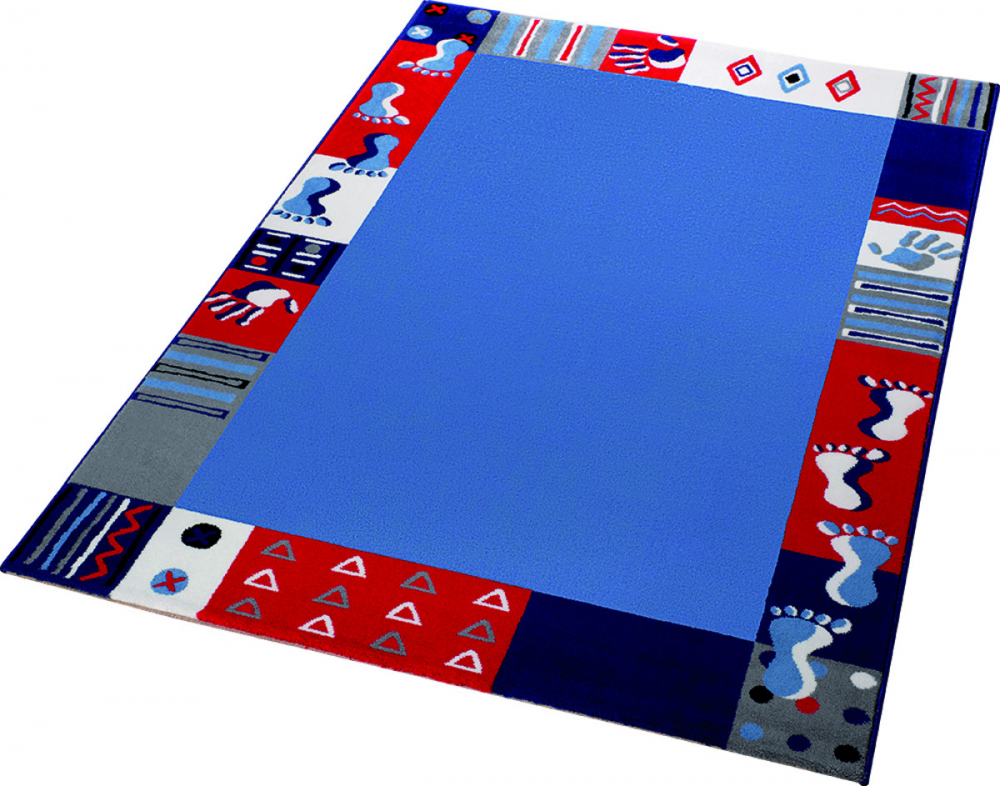 Covor copii tineret Roundly hands Feet albastru 120x170