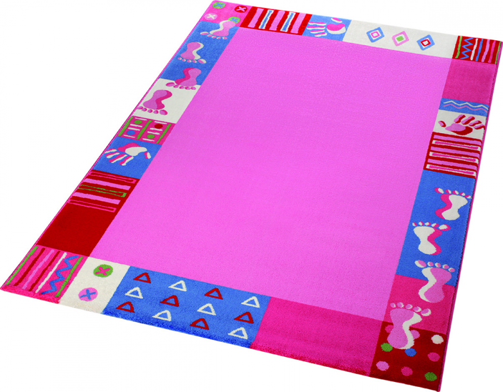 Covor copii tineret Roundly hands Feet roz 120x170