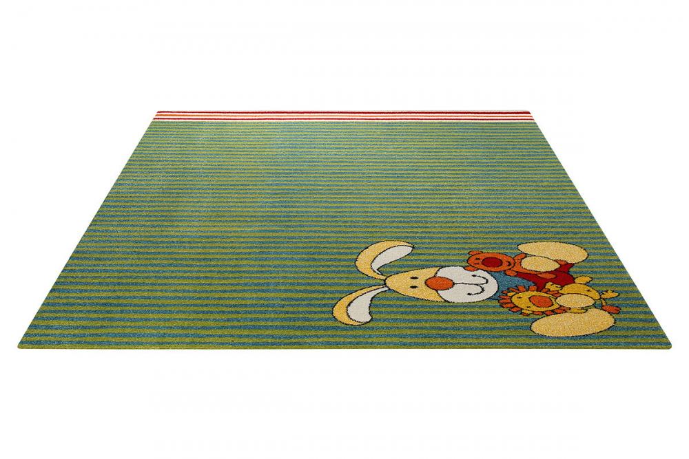 Covor copii tineret Semmel Bunny verde 80x150