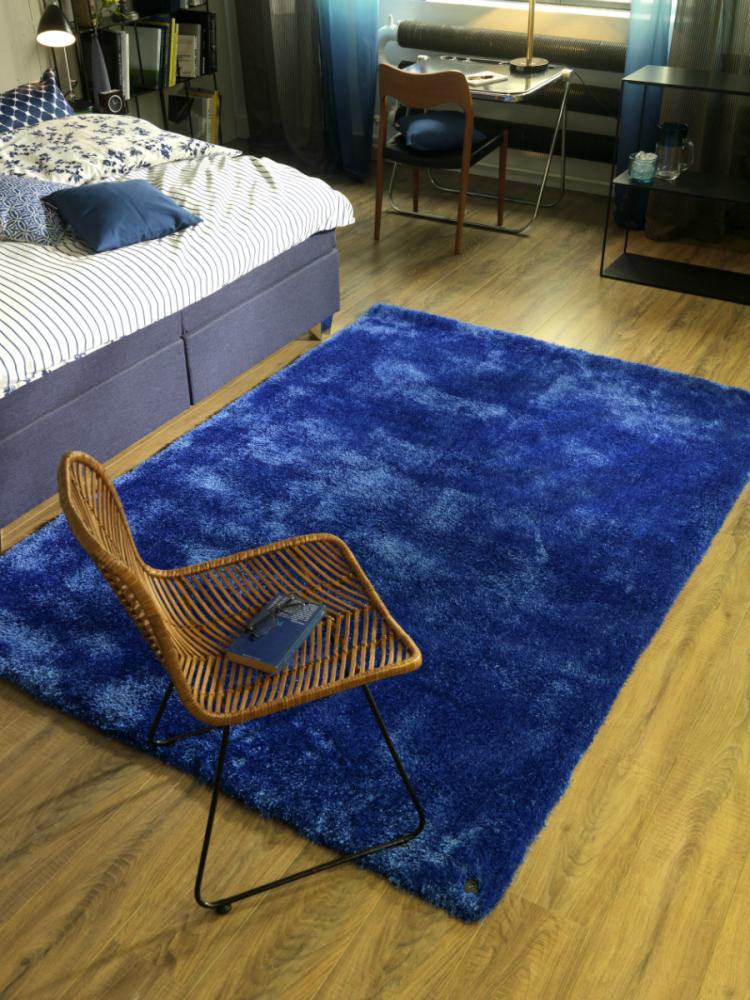 Covor Shaggy Soft albastru 65x135