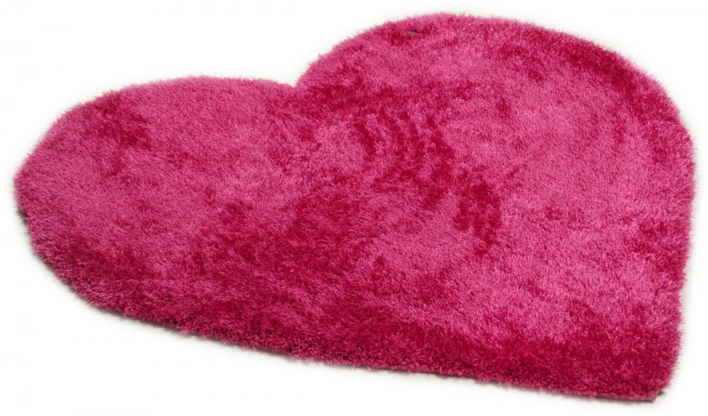 Covor Shaggy Soft forma inima roz 100x100