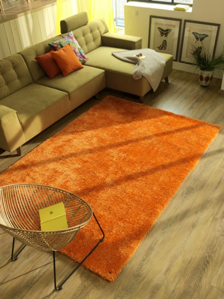 Covor Shaggy Soft portocaliu 65x135