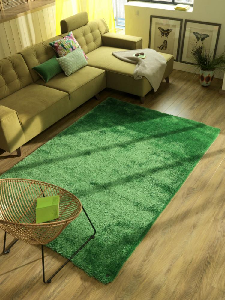 Covor Shaggy Soft verde 190x190