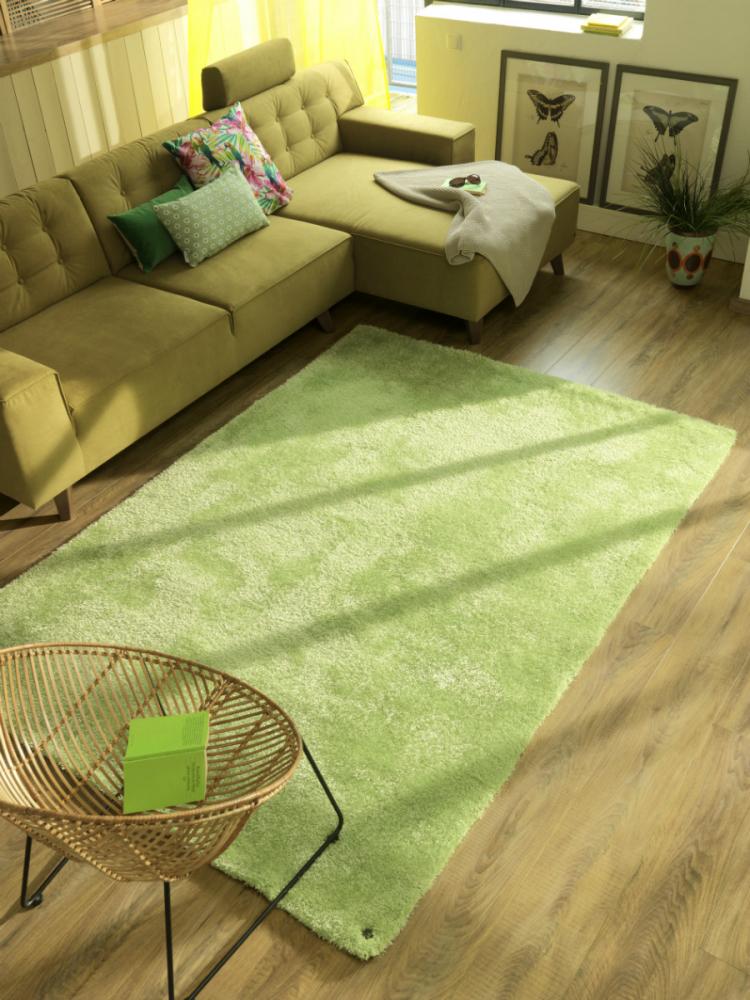Covor Shaggy Soft verde deschis 50x80