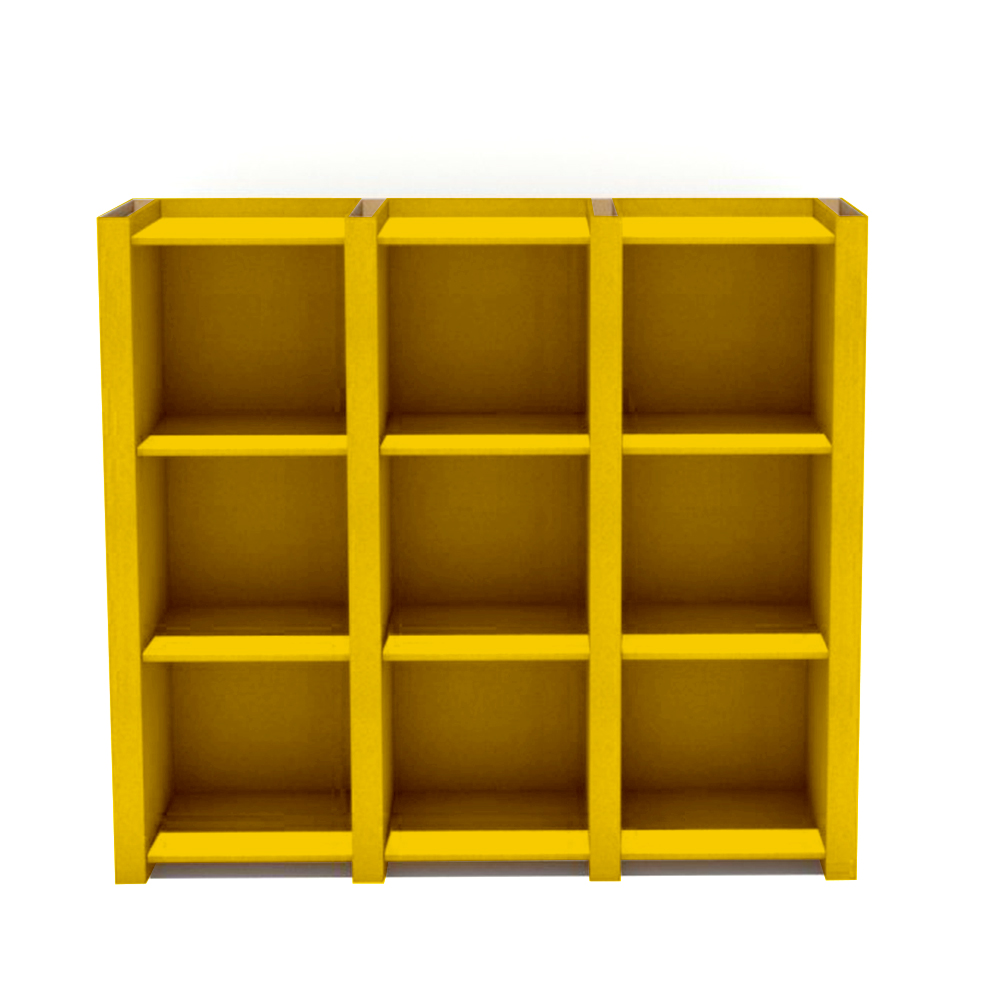 Etajera Modo III galben - facut de tine
