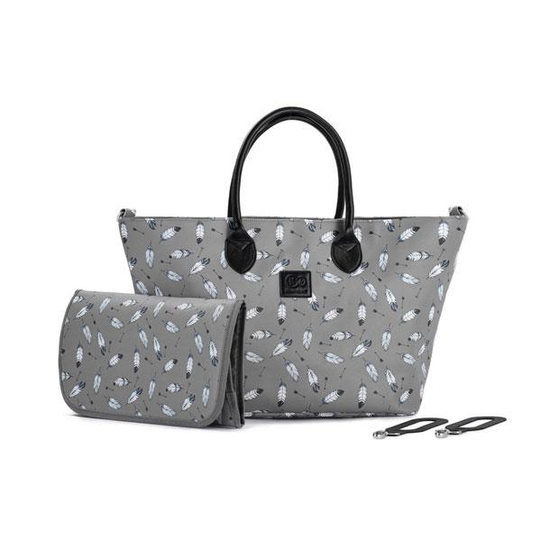 KINDERKRAFT Geanta pentru mamici multifunctionala Mommy Bag grey