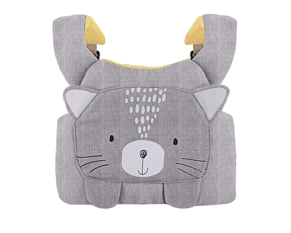 Ham de siguranta pentru copii KikkaBoo Cat Grey