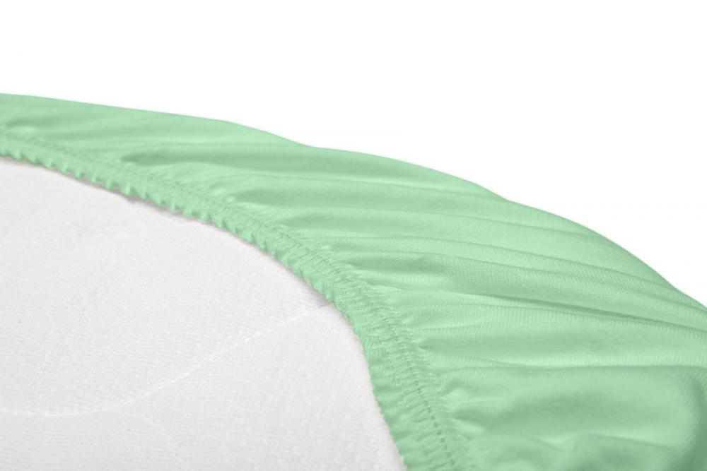Husa de bumbac Sensillo Menta cu elastic pentru salteaua de landou