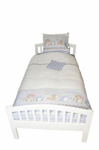 Lenjerie pat copii Odette Blue 100x14040x60 cm