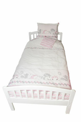Lenjerie pat copii Odette Pink 100x14040x60 cm
