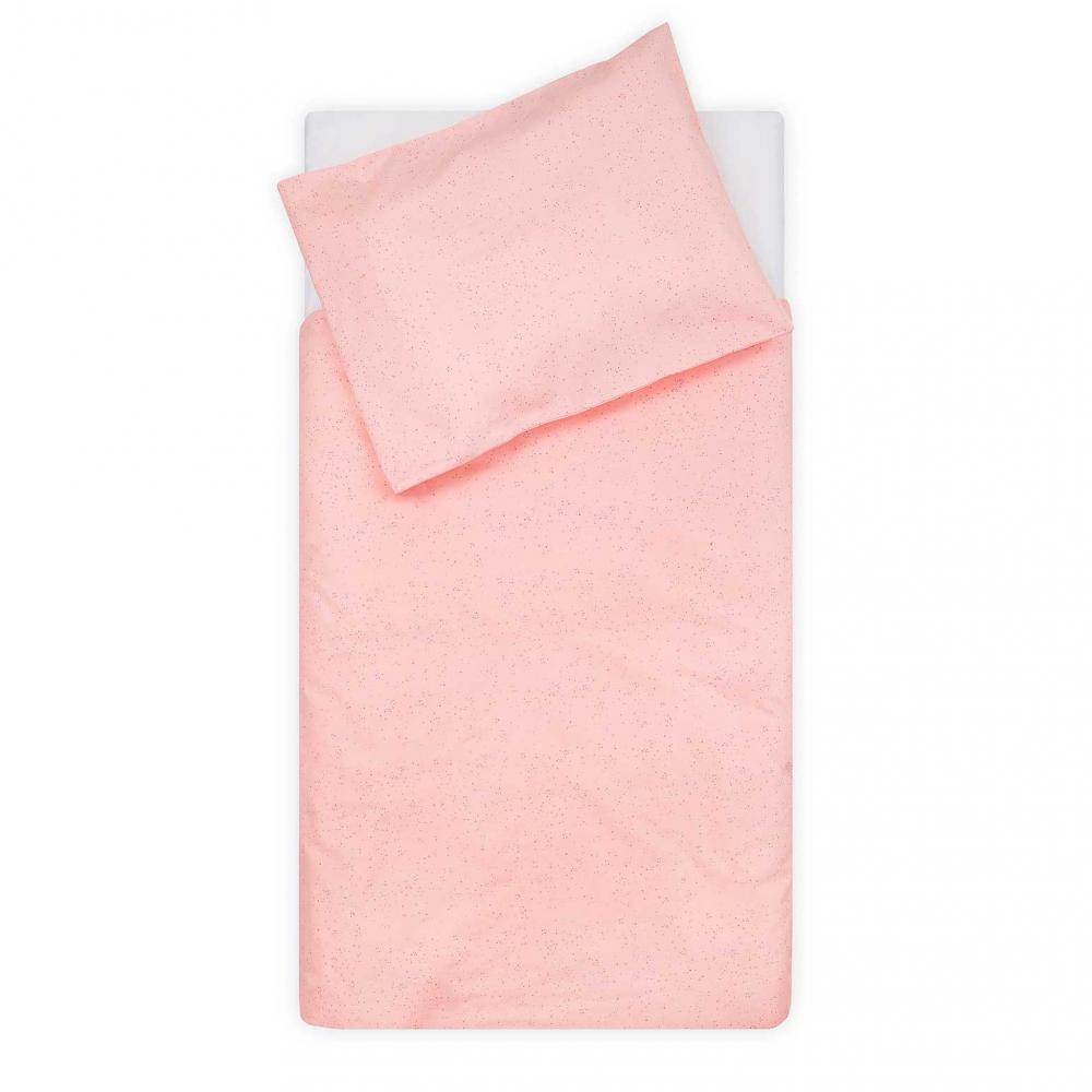 Lenjerie patut bebe Mini dots 100x140 cm bumbac roz