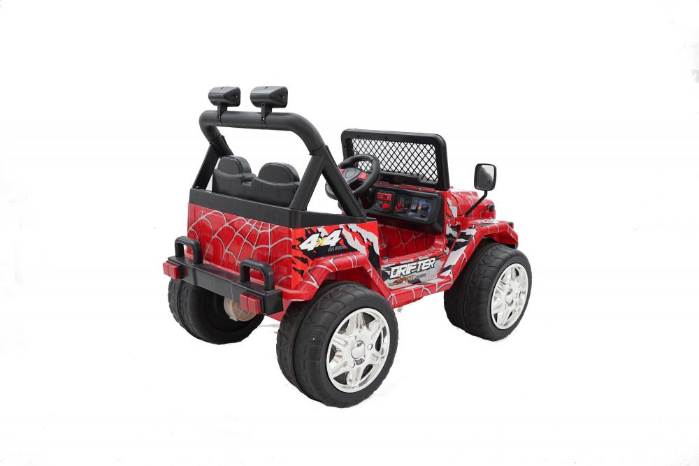 Masinuta electrica cu doua locuri Drifter Painted limited edition Red Spider - 8