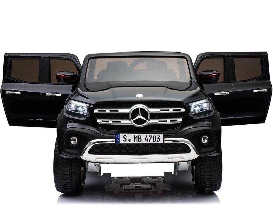 Masinuta electrica cu scaun de piele Mercedes Benz X-Class Black - 3