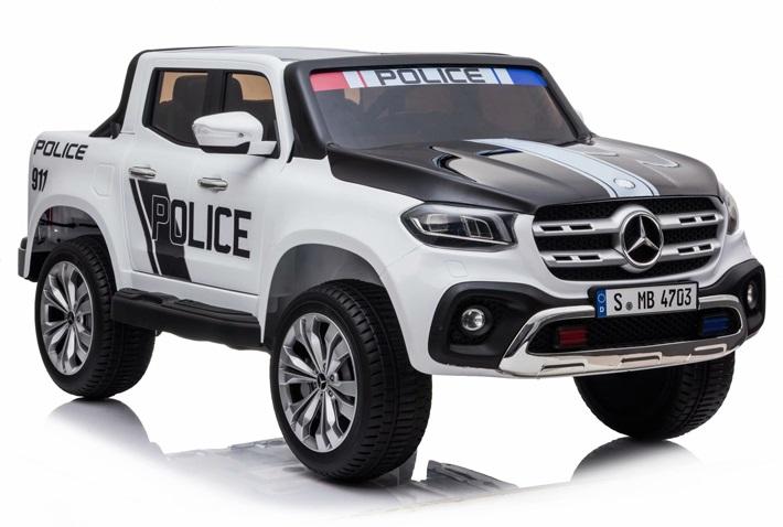 Masinuta electrica cu scaun de piele Mercedes Benz X-Class Police