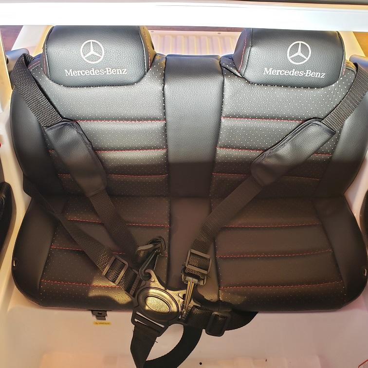Masinuta electrica cu scaun de piele Mercedes Benz X-Class Police - 1