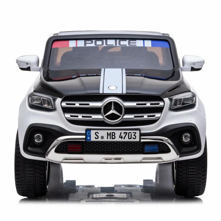 Masinuta electrica cu scaun de piele Mercedes Benz X-Class Police - 2