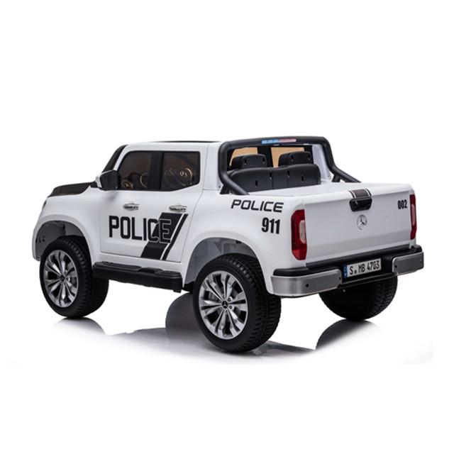 Masinuta electrica cu scaun de piele Mercedes Benz X-Class Police - 5