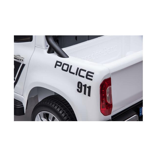 Masinuta electrica cu scaun de piele Mercedes Benz X-Class Police - 6