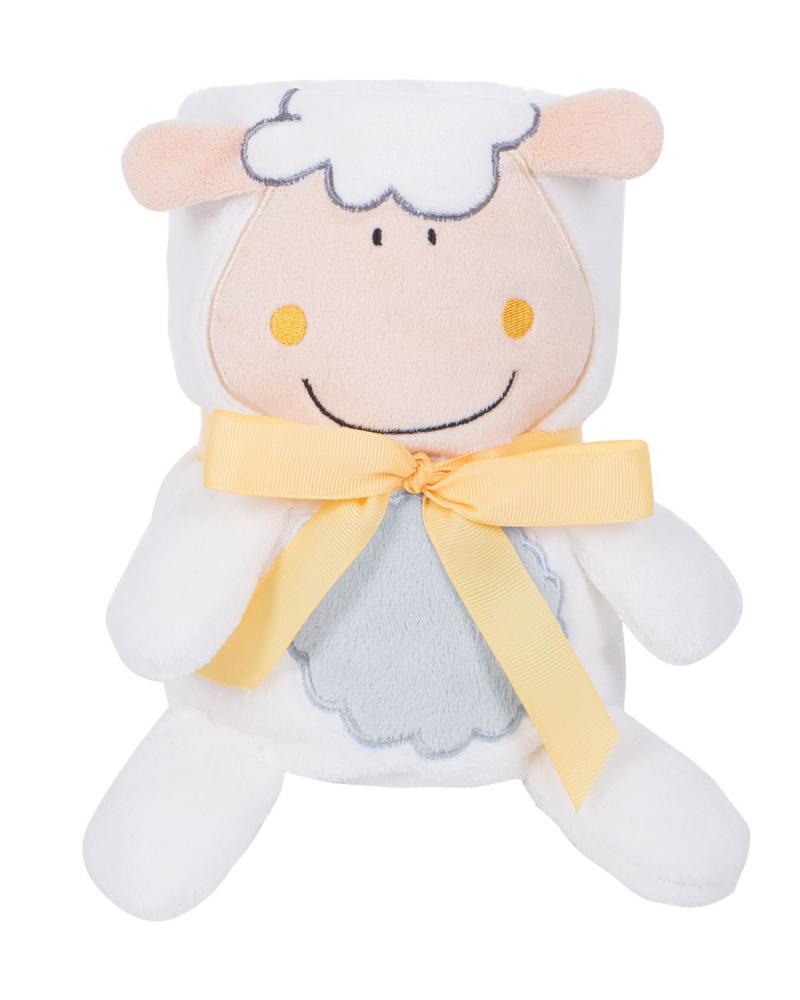 Paturica moale 75x100 cm KikkaBoo Baby blanket 3D Sheep